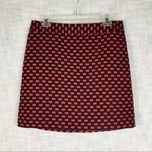 Ann Taylor Loft Outlet red/black skirt, size 10P